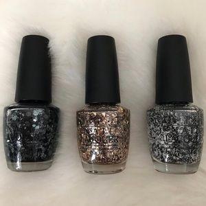 NEW 3 Set OPI Nail Enamel Polish Lacquer Metallics
